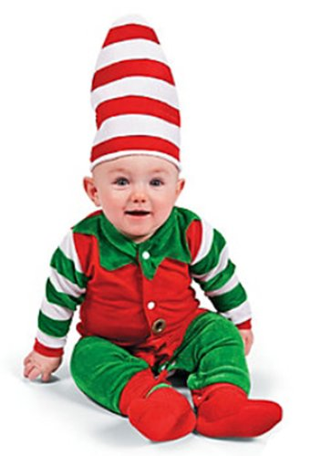 Baby Elf Costume Santa's Lil Helper Christmas Halloween