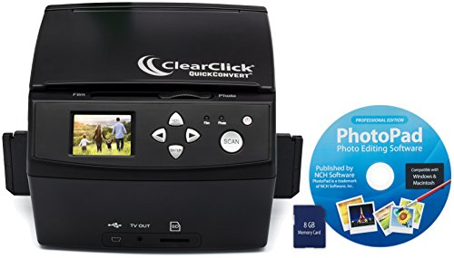 ClearClick-20-MP-QuickConvert-Photo-Slide-and-35mm-Negatives-To-Digital-Converter-with-PhotoPad-Software-8-GB-Memory-Card