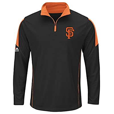 San Francisco Giants Majestic Quarter Zip Status Inquiry Pullover Synthetic Wind Shirt