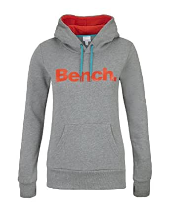 Bench Yoh Yoh Women's Jumper Mid Grey Marl/Orange X-Small