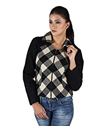 Owncraft Women's Woolen Jacket (Own_389_Black_X-Small)