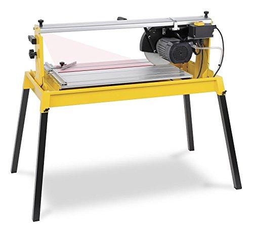 Fliesenschneidemaschine Fliesenschneider Nassschneider 1100W mit Laser, Diamant-Trennscheibe und Wasserbehälter - Art. POWX242