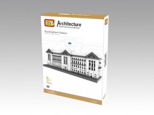 Micro Blocks - Buckingham Palace Model - Small Building Block Set - Nanoblocks Compatible - Not Lego Compatible