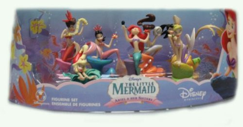Disney The Little Mermaid Ariel & Her Sisters Figurine Set - Buy Disney The Little Mermaid Ariel & Her Sisters Figurine Set - Purchase Disney The Little Mermaid Ariel & Her Sisters Figurine Set (Little Mermaid, Toys & Games,Categories,Dolls,Playsets,Fashion Doll Playsets)