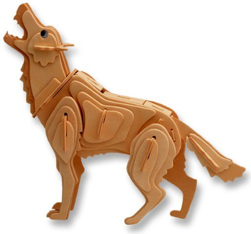 Amazon.com: 3-D Wooden Puzzle - Grey Wolf -Affordable Gift for your Little One! Item #DCHI-WPZ-M024: Toys & Games