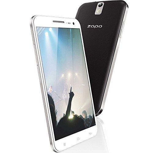NewTec24 ZOPO ZP999 Lion Heart RAM 3GB ROM 32GB Smartphone MTK6595 Octa Core 2,0GHz 5,5 Zoll 14,0 MP 4G LTE Dual Sim Handy Weiß mit FlipCase
