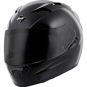 Scorpion EXO-T1200 Solid Street Motorcycle Helmet (Black, X-Large) by Scorpion