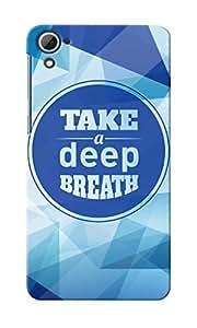 KnapCase Deep Breath Designer 3D Printed Case Cover For HTC Desire 826
