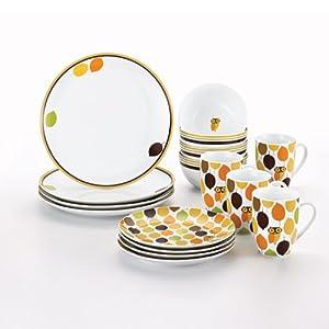 Amazon.com | Rachael Ray Dinnerware Little Hoot 16-Piece Dinnerware
