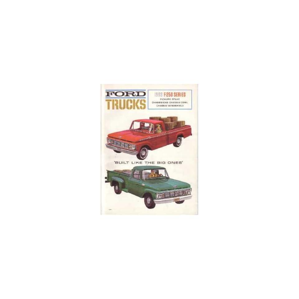 1963 Ford F250 Truck Sales Brochure Literature Book