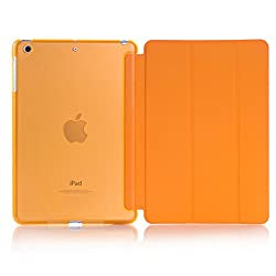 Smart Cover for Apple IPAD MINI /IPAD MINI 2, Go Crazzy Translucent Back Flip Case for Apple IPAD MINI /IPAD MINI 2 (Orange)