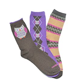 Owl Crew Socks 3-Pack