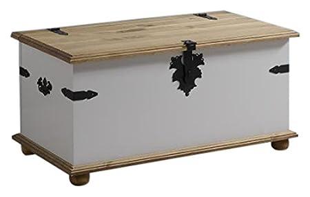 Seconique Corona–Único en el pecho de almacenamiento, madera, gris/pino encerado envejecido
