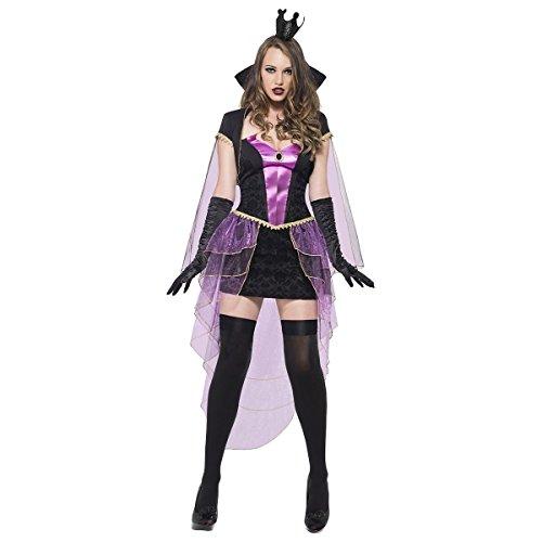 GSG Evil Queen Costume Adult Princess Halloween Fancy Dress (Evil Cheerleader Dress)