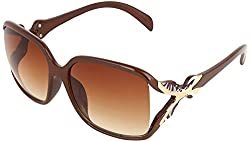 Omnesta Women's Over-sized Sunglasses (Brown) (PD065)