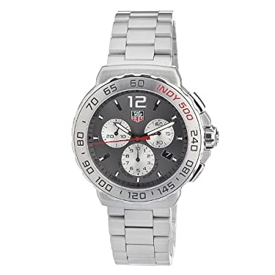 Tag Heuer Men's Cau1113.Ba0858 Quartz Chronograph Grey-Dial Stainless Steel Watch