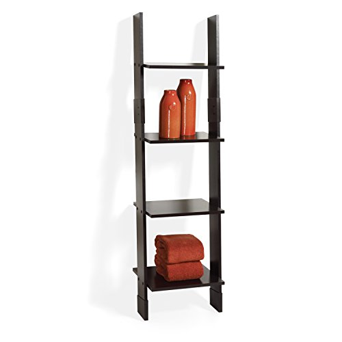Zenna home ch wood ladder linen tower espresso