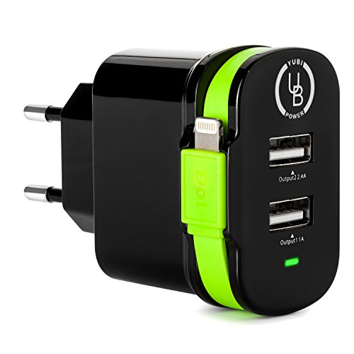 Ray Adapter Dual USB Ports with Lightning Connector Cable for Iphones and Ipad Type C for Europe, Turkey and More,, CE Certified - RoHS Compliant (Losing It Fry compare prices)