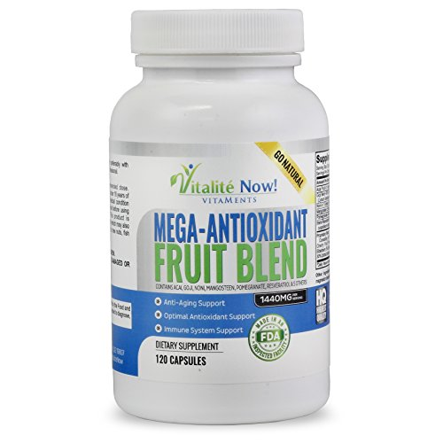 SuperFruit Antioxidant Supplements! Acai Resveratrol Pomegranate Goji Mangosteen + 6 Other Anti Aging Superfoods - Works on a Cellular Level!