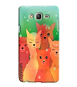 Omnam Wolf And Cats Posing Printed Designer Back Cover Case For Samsung Galaxy On 5