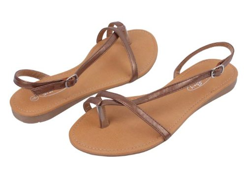 Sunville Women'S Fashion Sandals,Bronze,9 front-760276