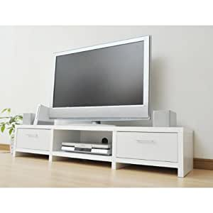 山善(YAMAZEN) ロータイプテレビ台(幅150) テレビボード ホワイト  CEL-2915LB(WH)