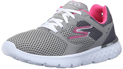 Skechers Performance Women's Go Run 400 Running Shoe, Charcoal/Hot Pink, 8 M US
