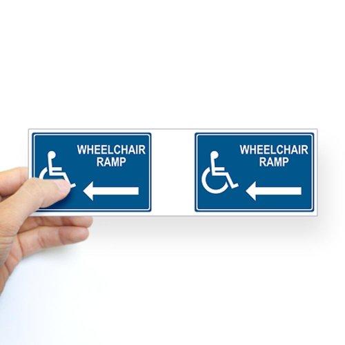 Wheelchair Ramp Notice Bumper Sticker Sticker Bumper by CafePress - White