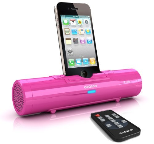 AZATOM® iFlute Pink Portable Docking Station - Remote Control - Unique Design - Quality Sound