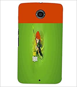 PrintDhaba Girl Image D-2999 Back Case Cover for MOTOROLA GOOGLE NEXUS 6 (Multi-Coloured)