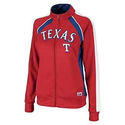 MLB Texas Rangers Women's Great Play Track Jacket, Red/Royal/White