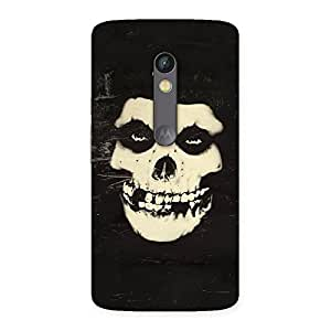 Cute Vintage Skull Face Back Case Cover for Moto X Play