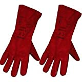 Large Red Stove Fire and Barbecue Gloves