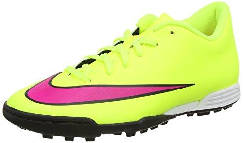 NikeMercurial Vortex II Tf - Scarpe da Calcio uomo , Giallo (Yellow (Volt/Hyper Pink/Black 760)), 39 EU