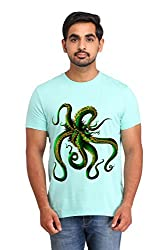 Snoby Green octopus Printed T-shirt (SBY15447)