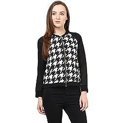 RARE Geometric Print Full Sleeve Women's Jacket
