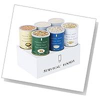 バラエティセット(6缶詰合/クラッカーx2 チキンシチューx1 野菜シチューx1 野菜のクリームパスタx1 マカロニ&チーズx1) [#10大缶]サバイバルフーズ 約60食相当量