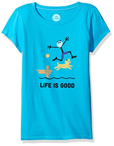 Life is good Girl's Elemental Dock Tee, Bright Blue, Medium (Life Is Good Kids compare prices)