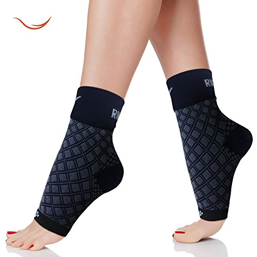 Rikedom Sports (1 Pair) Best Plantar Fasciitis Foot Sleeves Graduated Compression Heel Arch Ankle Sleeves Socks Brace Plantar Sock for Men and Women, Reduce Ankle Swelling Ankle Spur Blood Circulation (Feet Of Endurance compare prices)