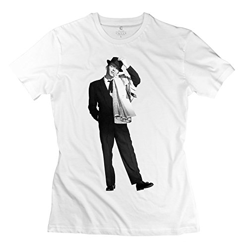 Women's Frank Sinatra The Platinum T-Shirt White (Rock Rival Shorts compare prices)