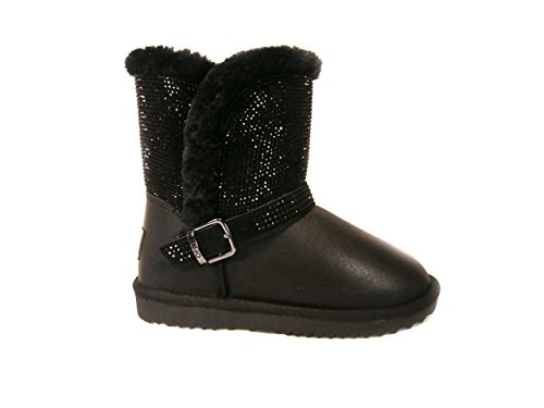 UGG LIU JO-GIRL IN PELLE E STRASS 35, Nero, Pelle MainApps