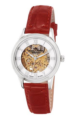 Yonger & Bresson YBD 8525-15 - Orologio da polso donna, pelle, colore: rosso