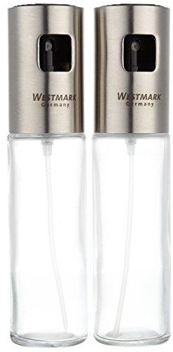Westmark 24362260 Ensemble de Vaporisateur de Vinaigrette et d'Huile Verre Argent 17,5 x 8 x 4 cm