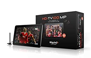 WayteQ HDTV-100MP MPEG4 portable TV with integrated DVB-T tuner and media player