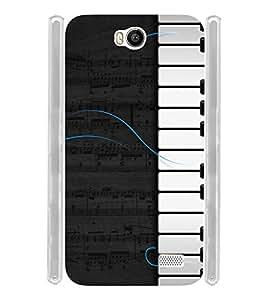 Musical Piano Soft Silicon Rubberized Back Case Cover for Intex Aqua 4.5E :: Intex Aqua 4.5 e