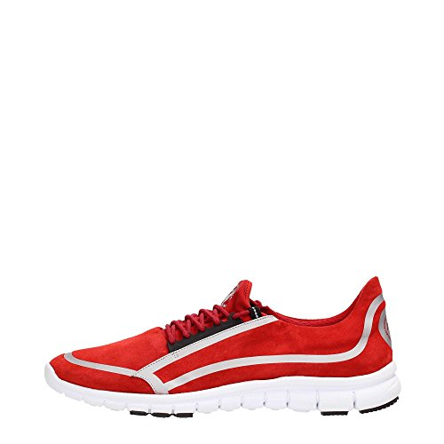 Bikkembergs BKE107503 Sneakers Uomo Scamosciato Red Red 42