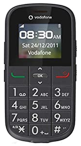Vodafone 155 Big Button Easy to use Senior / Pay as you go / Pre-Pay / PAYG / Mobile Phone / SOS button and large easy to read Display - Black