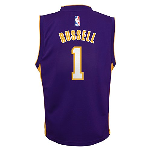 NBA Youth 8-20 Los Angeles Lakers Russell Replica Road jersey