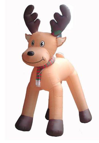 JUMBO 15 Foot Animated Christmas Inflatable Reindeer Outdoor Decoration