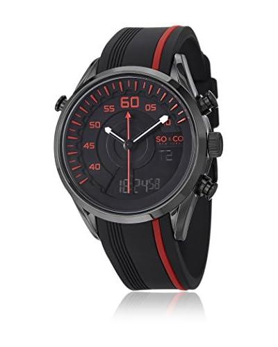SO&CO Reloj 5044.2 Negro / Rojo